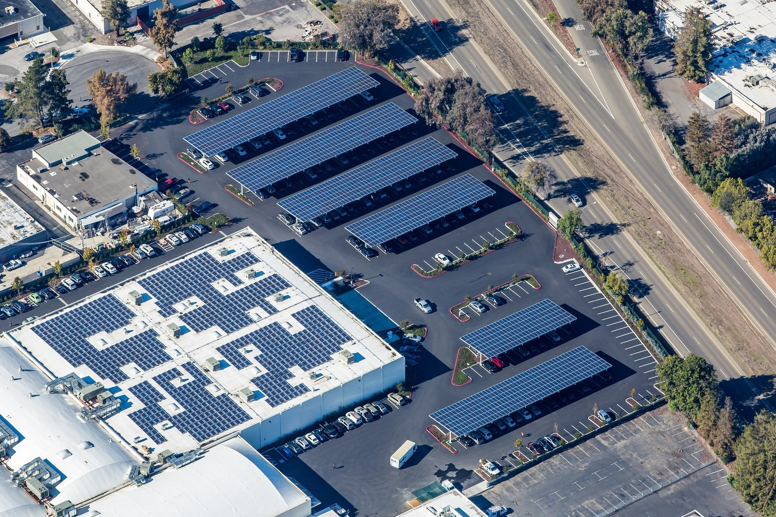 ... Parking Lot Solar Canopy Project & Fortinet Solar Campus | Blue Oak Energy
