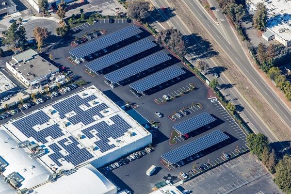 Parking Lot Solar Canopy Project