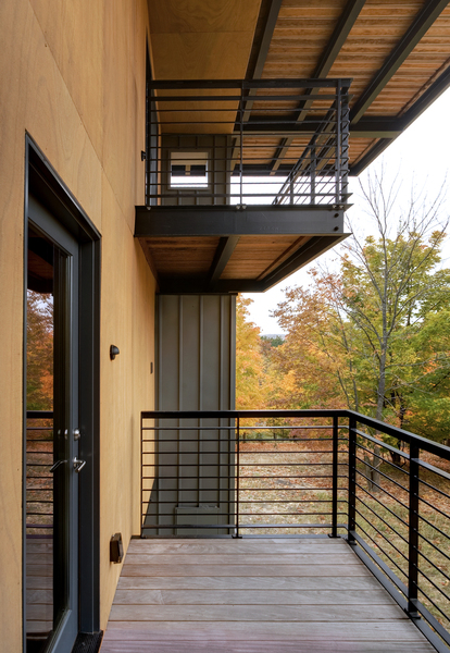 Sustainable house design glen lake mi natural modern for Architecture firms in michigan