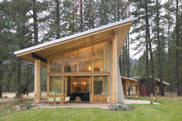 Shed Roof Cabin Design Methow Valley Wa Natural Modern