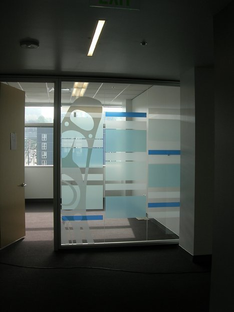 See Through Window Graphics Perforated Vinyl Window Decals