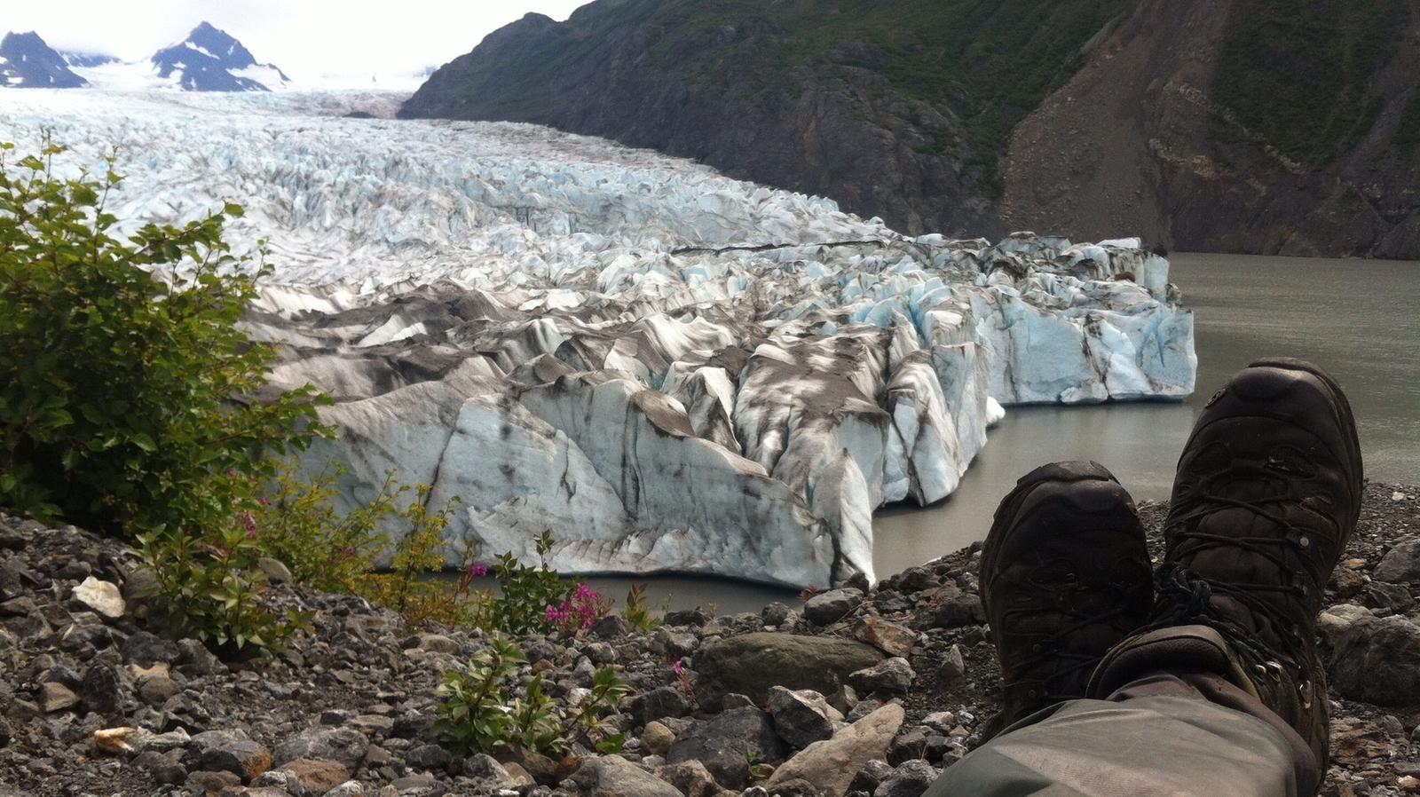 Glacier floating by in Grewingk Glacier Lake