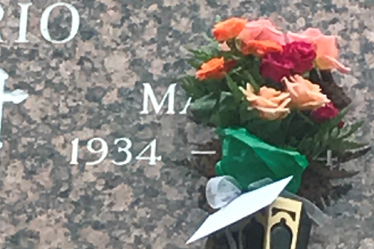 Flowers to be placed in the Mausoleum
