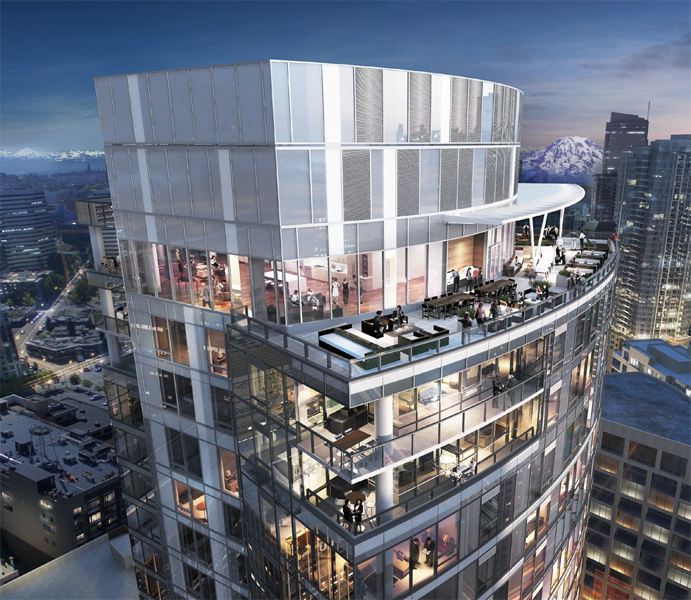 970 Denny Rendering Top of tower