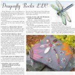 Dragonfly Rocks - Original Garden Art by Carol Deutsch