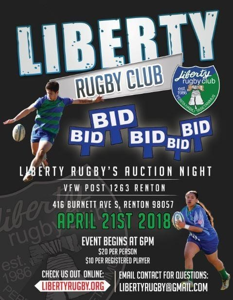Liberty Rugby Club Auction Event