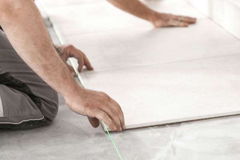 flat surfaces are needed to dry tile