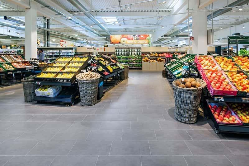 DryTile is the ideal method for tiling large areas like grocery stores and retail spaces