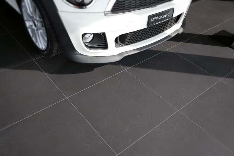 DryTile is ideal for car showrooms
