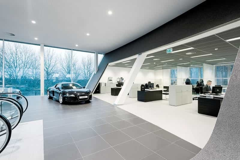 car showroom with DryTile