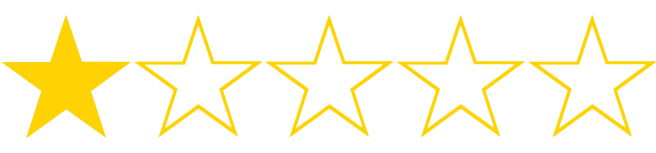Image result for one star out of five