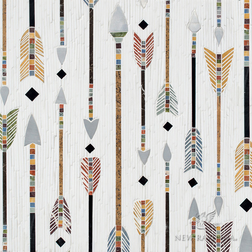 Colorful arrows mosaic
