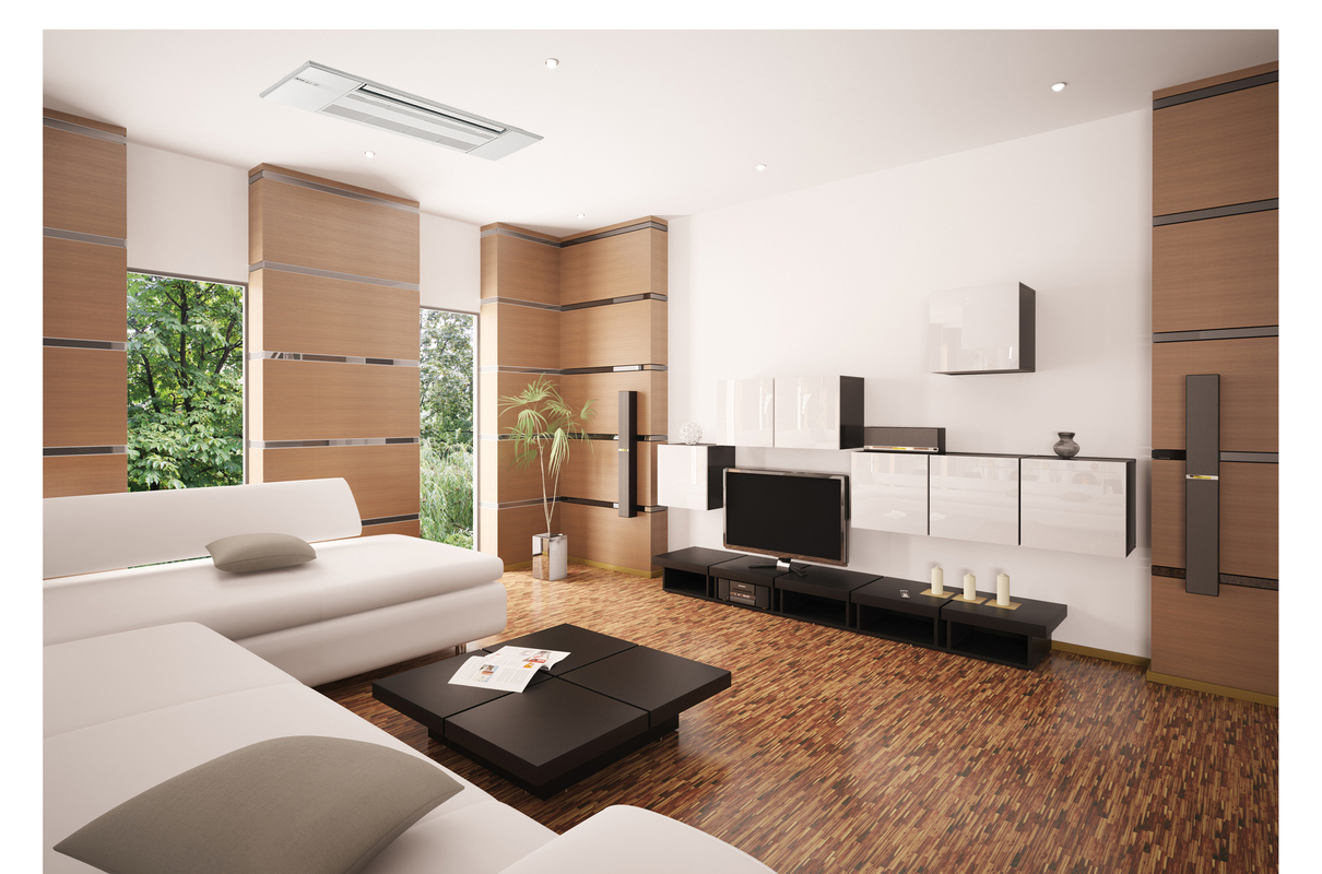Modern Mitsubishi Heating and Cooling System, Ductless and Central