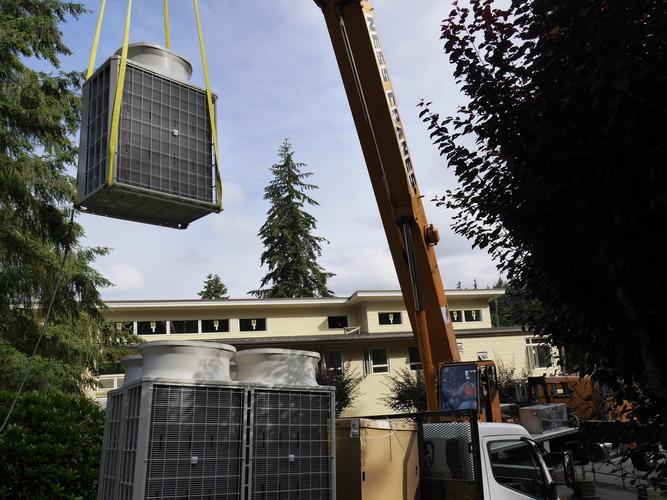 Evergreen commercial HVAC install
