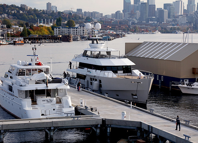Emerald Landing yacht servicing and moorage Seattle