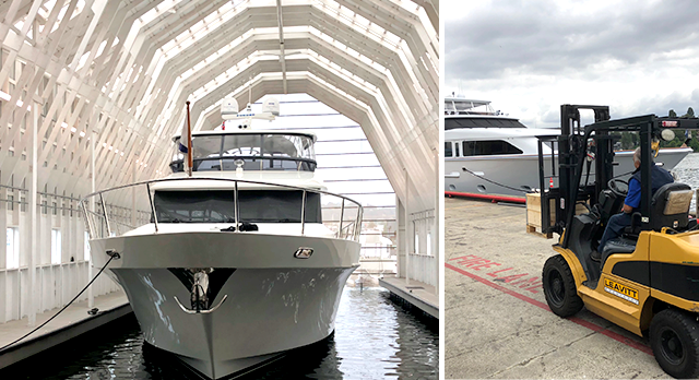 Emerald Landing Seattle yacht servicing and storage