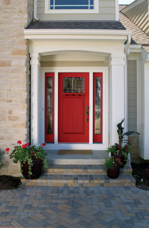 Red Homeward Front Entry Door by Procraft