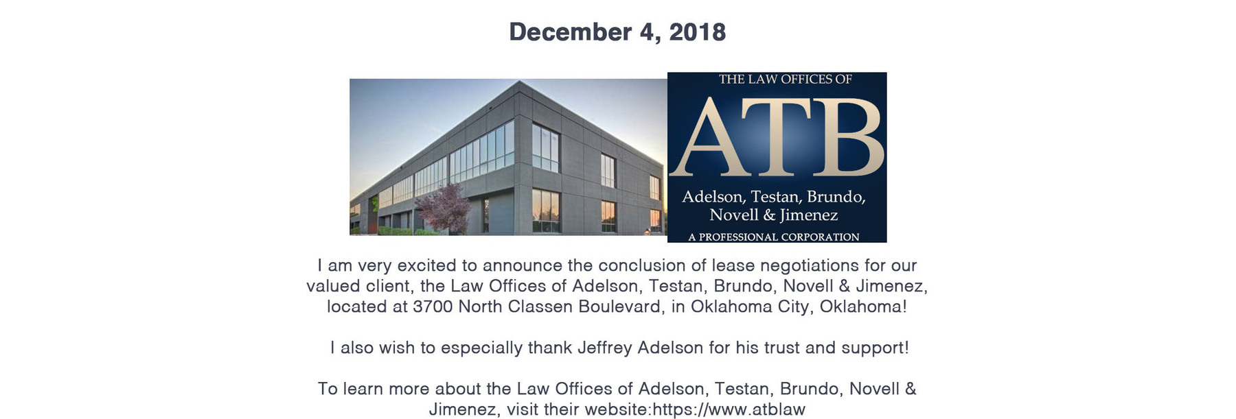 News & Events | Jeff Tabor Group Commercial Real Estate