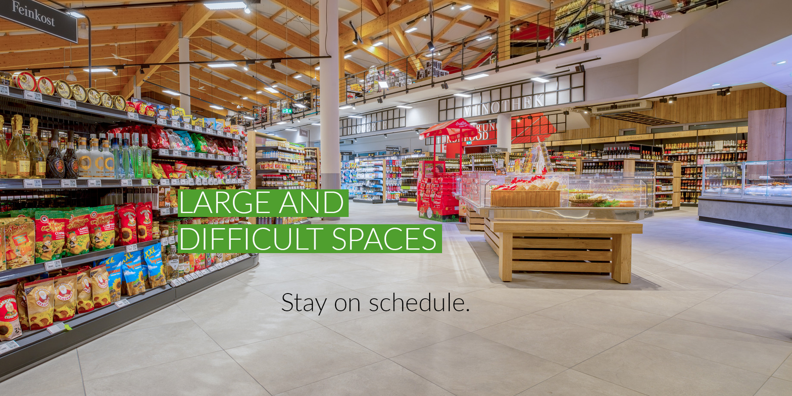 Large & difficult spaces stay on schedule with DryTile.