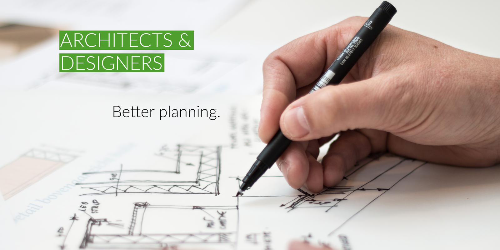Architects and designers are able to plan better using DryTile.
