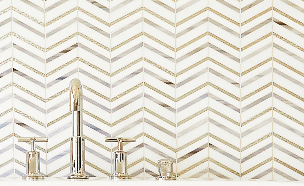 chevron mosaic tile in the bathroom tile