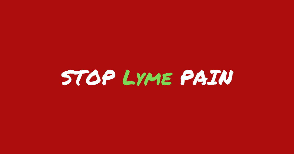 How to Treat Lyme Disease Pain Image by Marty Ross MD