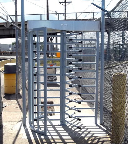 Turnstiles At The Port Of Tacoma Commercial Gates