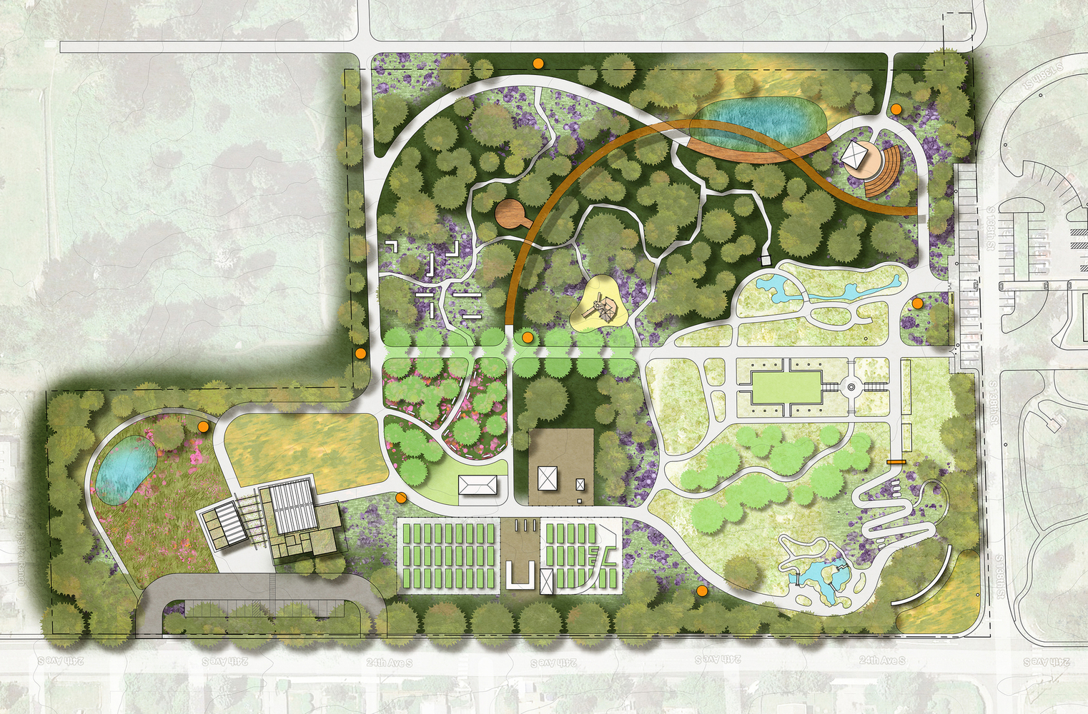 Highline Botanical Garden Site Plan