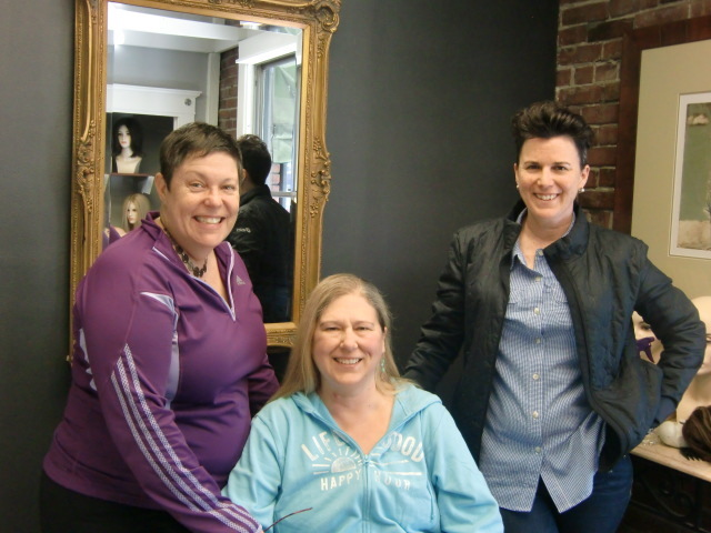 A before pic of our client with her support team.