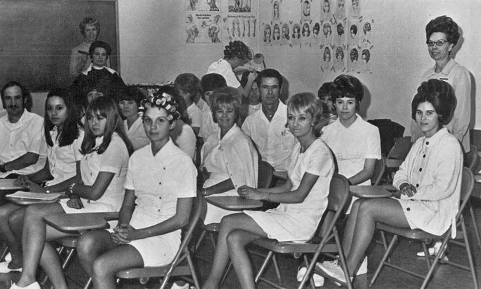beauty school in the 1960s