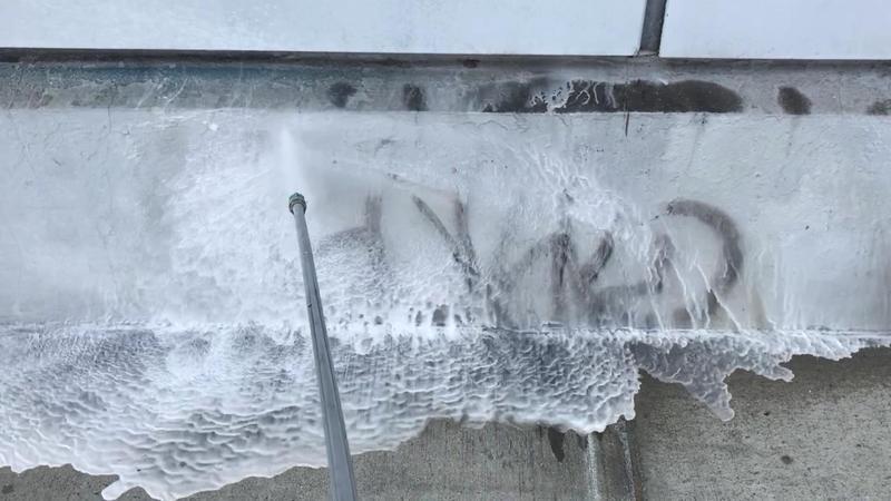 Washing away graffiti