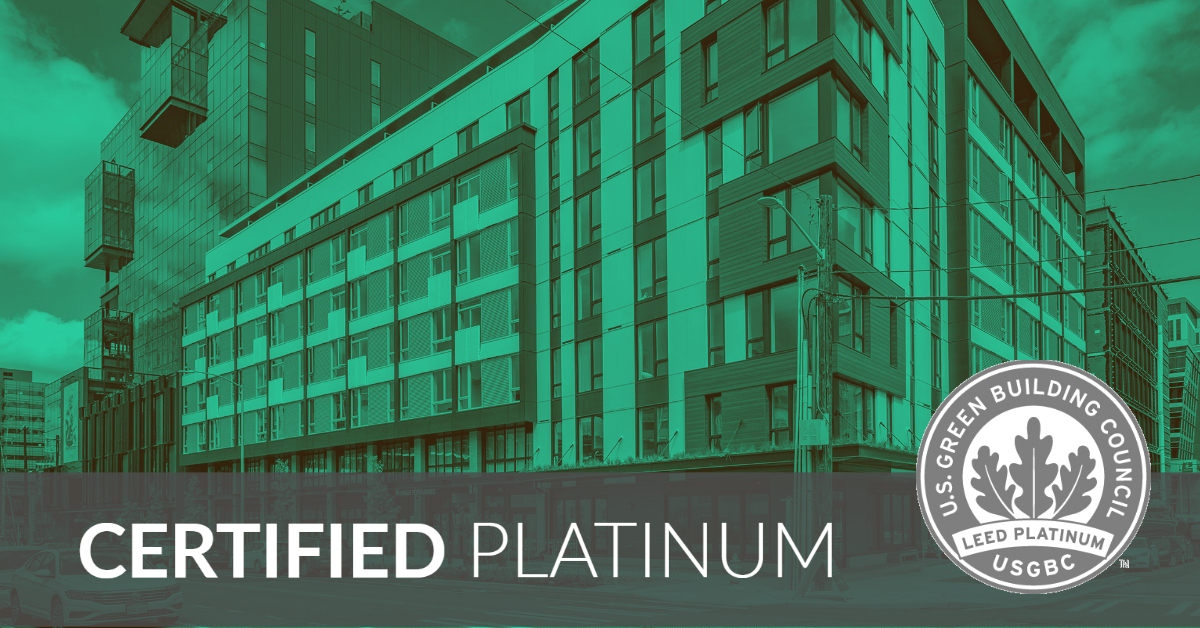 certified platinum award for orion building