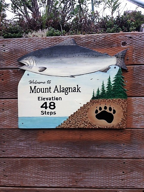 Mount Alagnak sign