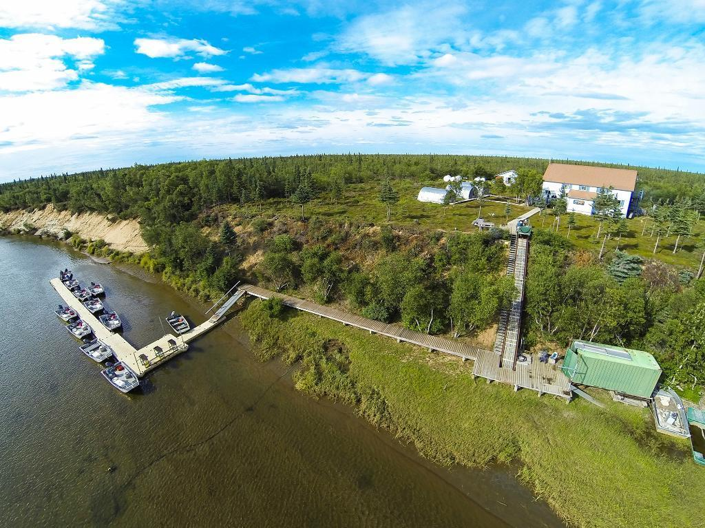 fish eye drone lodge upriver