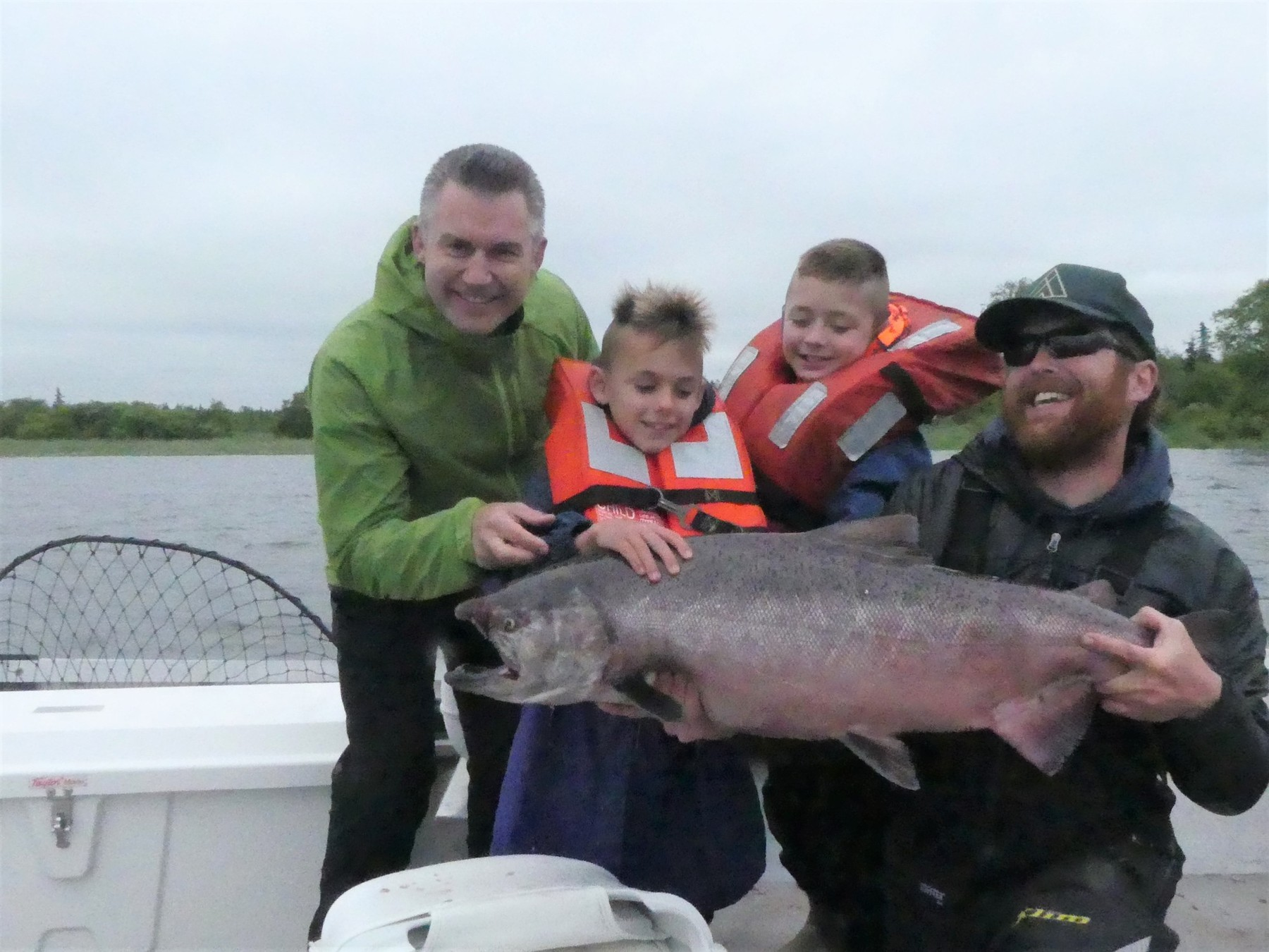Ken and the boys with a king chinook