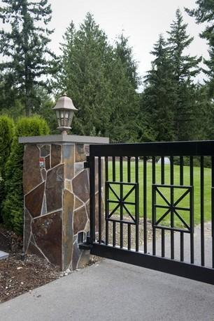 Custom Geometric Design Commercial Gates Seattle Wa