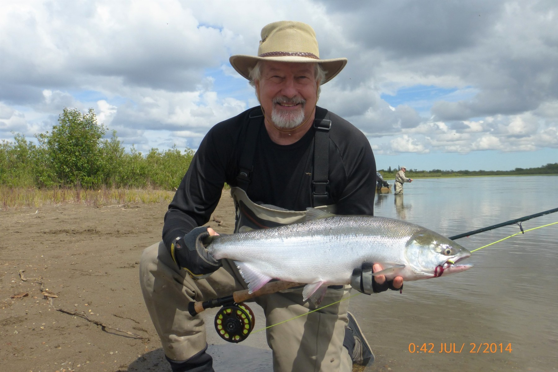 AJB red sockeye on bar