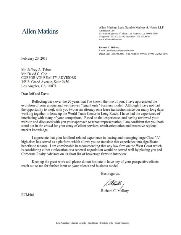 Allen_Matkins_-_Letter