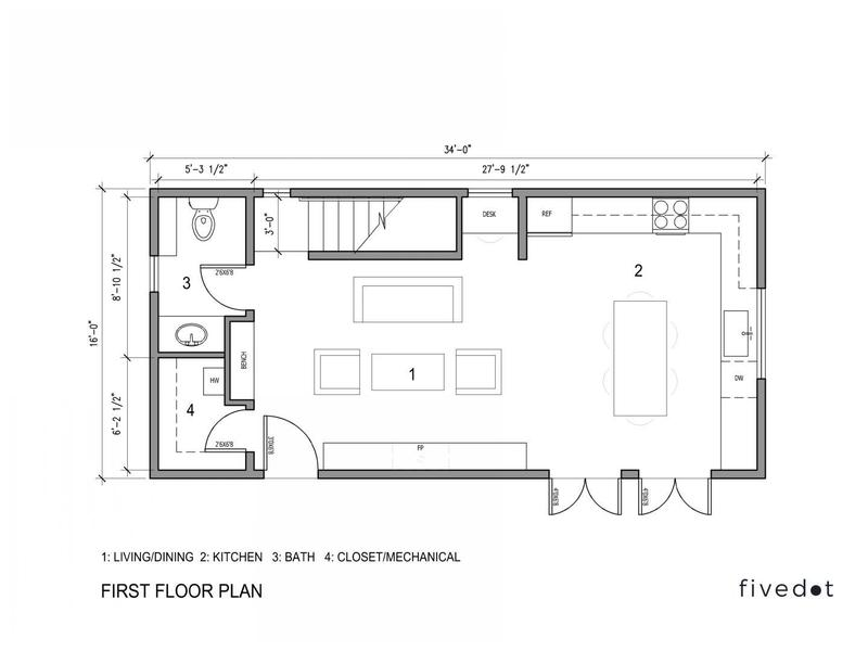 Pre Approved DADU first floor plan