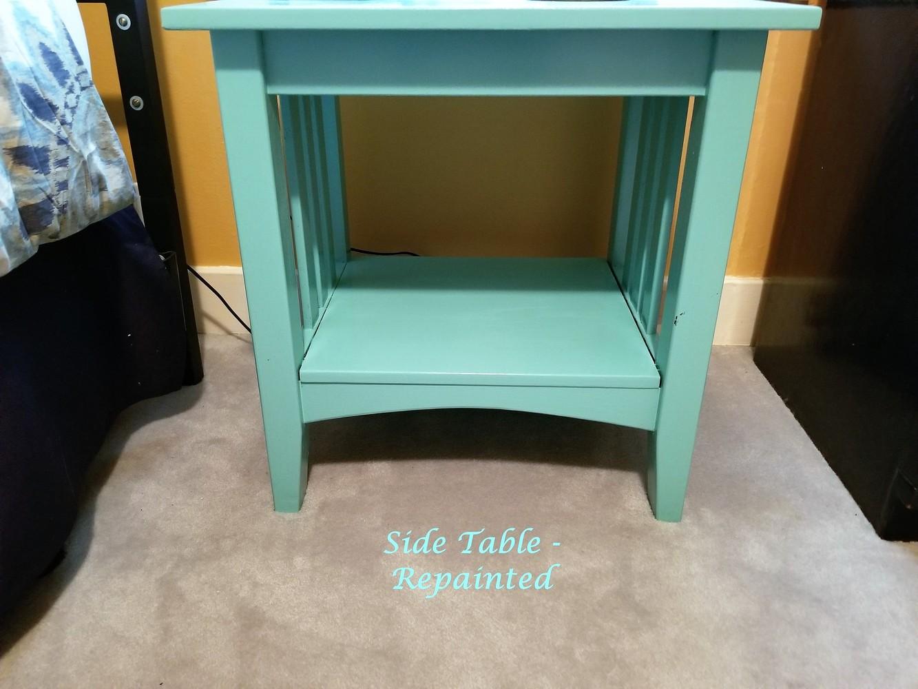 New Aqua Side Table