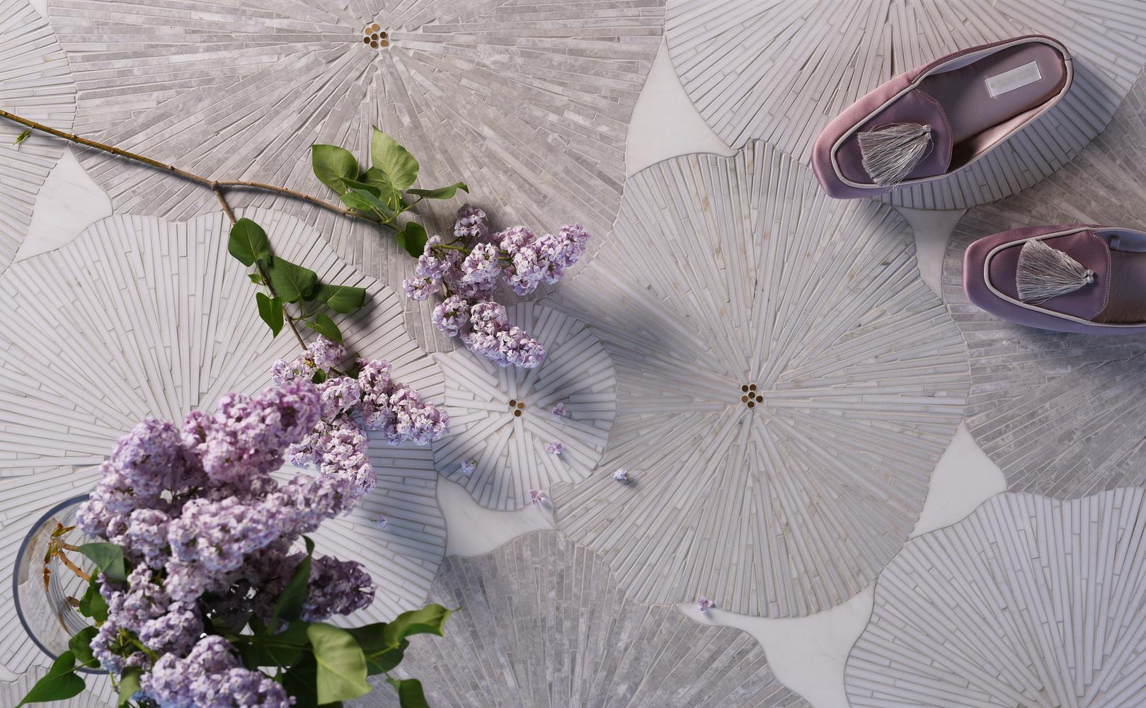 mosaique surface floral mosaic tile floor