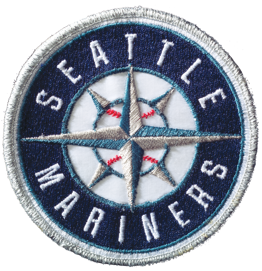 Seattle Mariners logo on a stitched patch