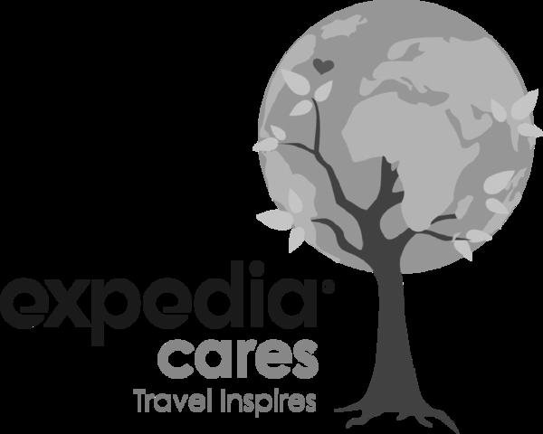 Expedia Cares logo
