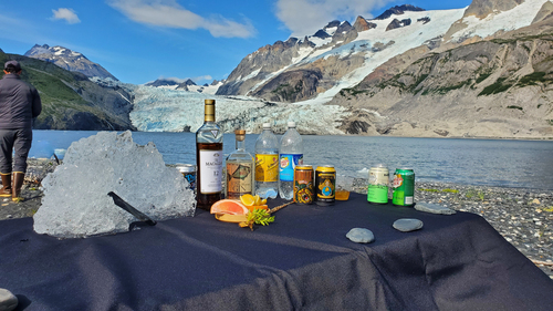 Drinks at McCarty Glacier