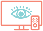 Illustrated icon of a television, representing broadcast TV