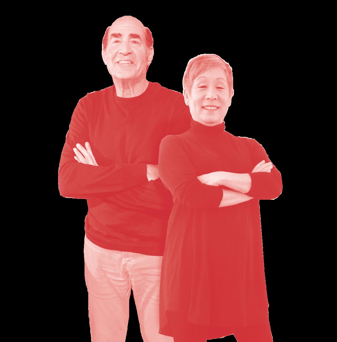 Photograph of Jim Copacino and Betti Fujikado, agency founders