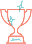 Illustrated icon of a trophy, representing an award won