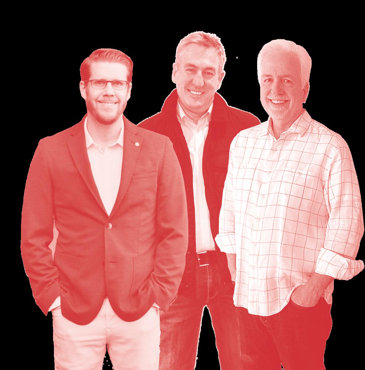 Photograph of Mike Hayward, Scott Foreman and Tim O'Mara, Copacino Fujikado Principals