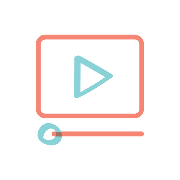 Illustrated icon for digital video