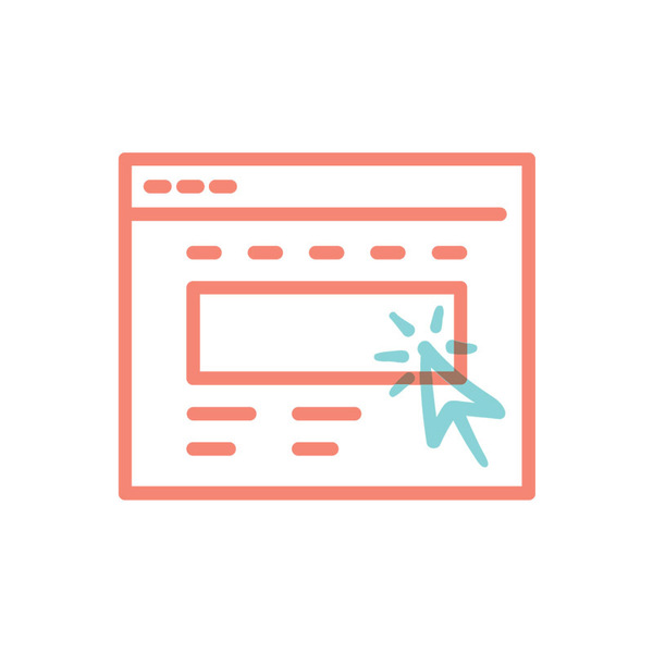 Illustrated icon for website and website visits